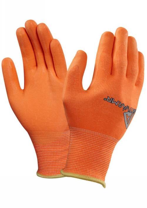 ANSELL 97-210 Mechanics Gloves,9,Hi-Vis Orange//Blk,PR